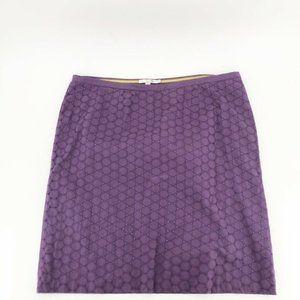 Boden Womens A Line Skirt Purple Circles Cut 18L